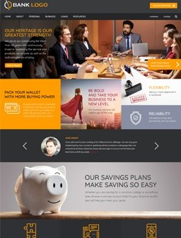 bank website design